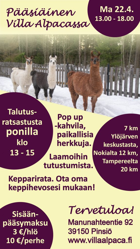 Pääsiäinen VIlla Alpacassa